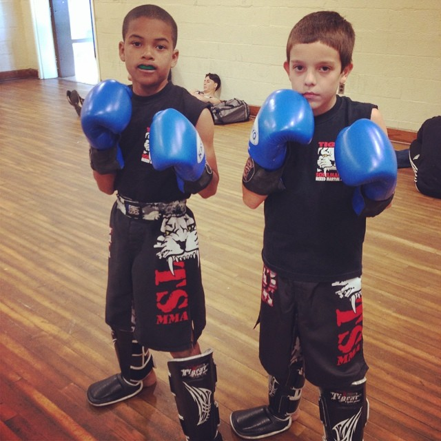 Tiger Schulmann's Martial Arts | Boys with Blue Gloves
