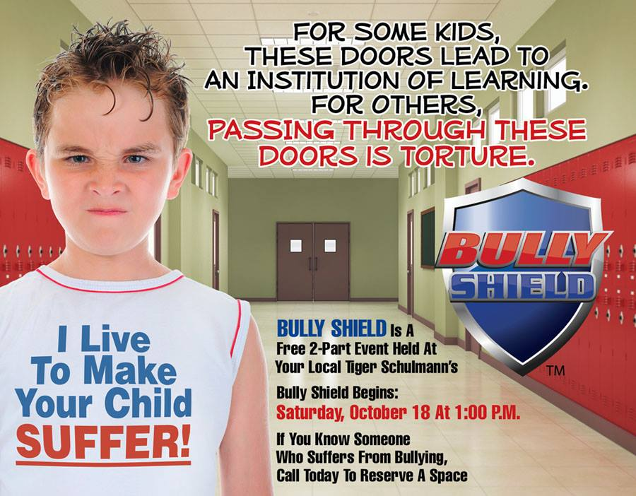 Tiger Schulmann's Martial Arts | Bully Shield Banner