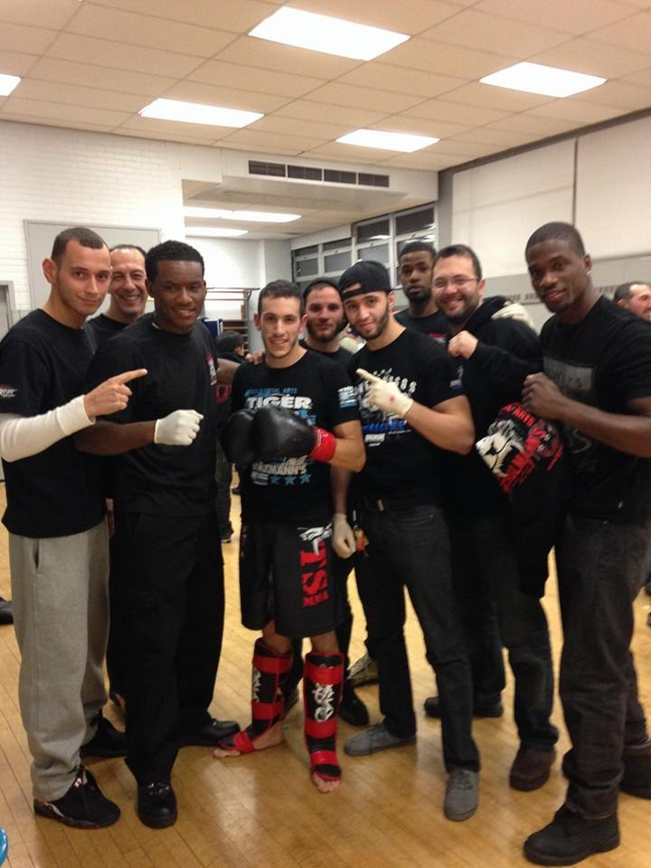 Tiger Schulmann's Martial Arts | Men Group Photo With Fighter