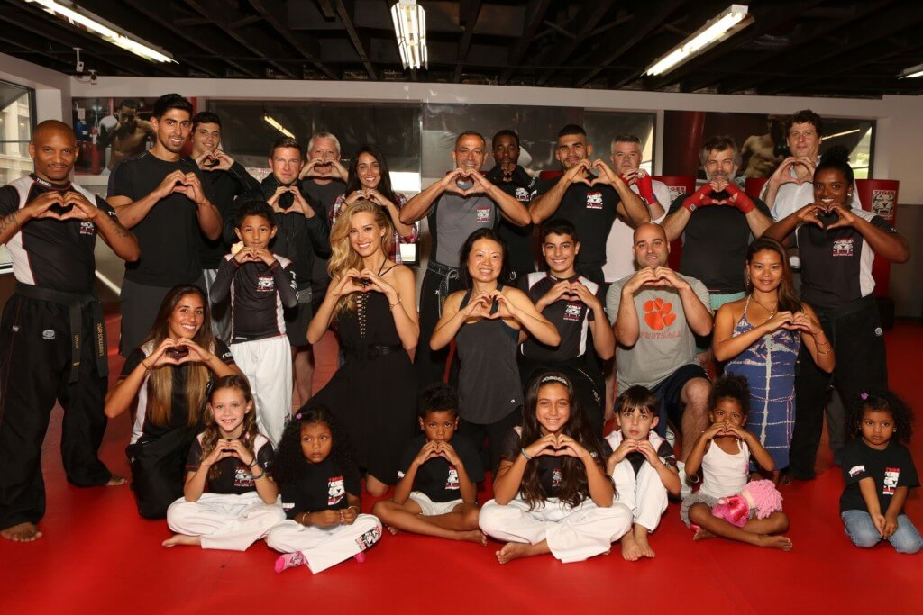 Tiger Schulmann's Martial Arts | Heart Sign Group Photo