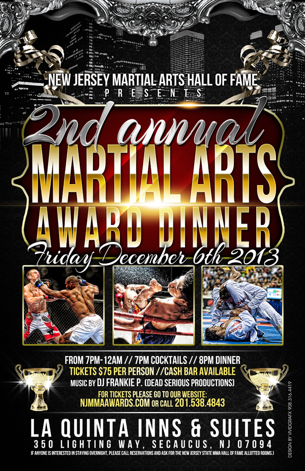 Tiger Schulmann's Martial Arts | 2nd Annual Martial Arts Award Dinner Banner