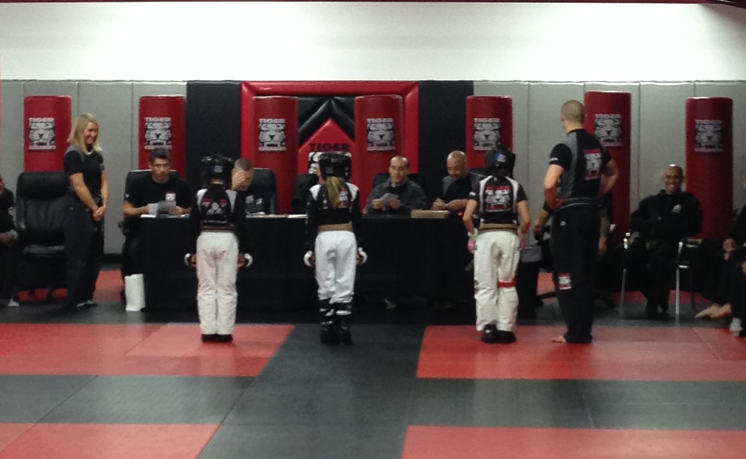 Tiger Schulmann's Martial Arts | Team in front of Judges