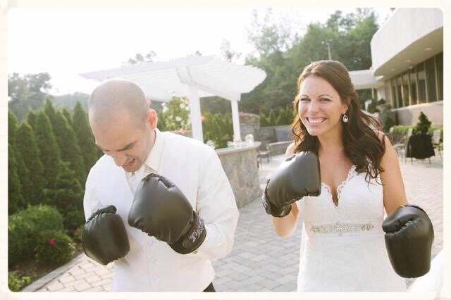 Tiger Schulmann's Martial Arts | Wedding Couple with Black Gloves