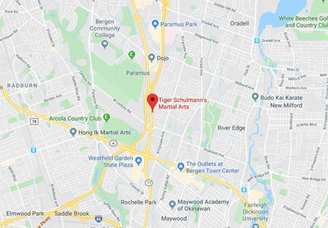 Tiger Schulmann's Martial Arts | Paramus Map
