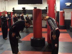 Tiger Schulmann's Martial Arts   Men Bowing