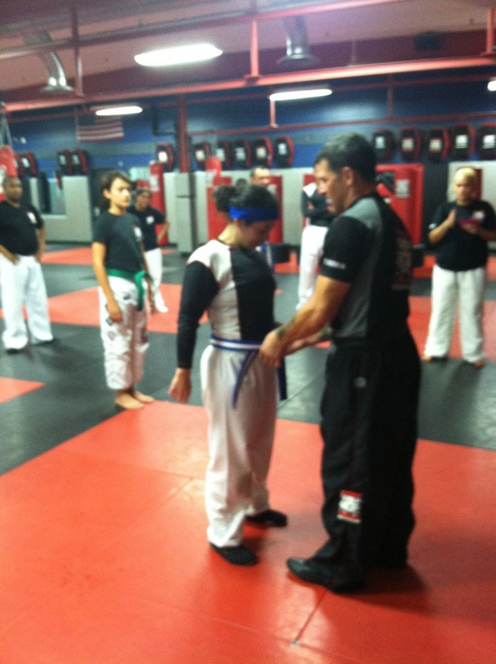 Tiger Schulmann's Martial Arts | Woman with Blue Belt