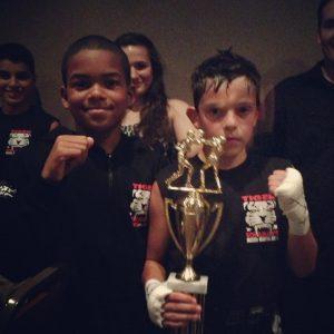 Tiger Schulmann's Martial Arts   Boy with Trophy
