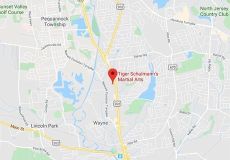 Tiger Schulmann's Martial Arts   Wayne Map